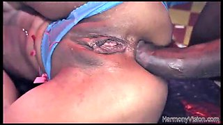 amazing anal sex with a big black cock for the slutty skin diamond