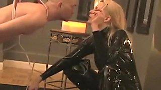 Crazy homemade Fetish, Latex sex scene