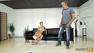 DADDY4K. Dude catches attractive girlfriend making love with his dad
