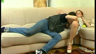 Russian teen in pantyhose gets anal