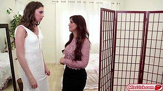 Busty stepmom Syren fucks her bride stepdaughter Elena
