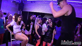 Foxy babes get banged at a party