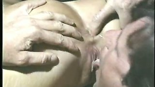 Awesome happy curly vintage lady is happy to give a damn steamy BJ