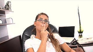 Caught Smoking At Work And Fucked In Her Ass