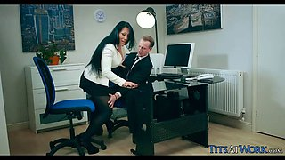 Big British Tits at Work