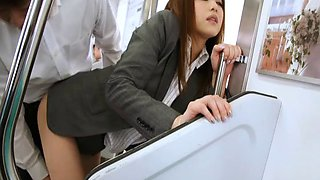 On a business trip this Japanese girl gives it up to her boss