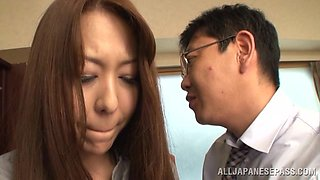 Asian Beauty Mouth Fucked By Her Boss
