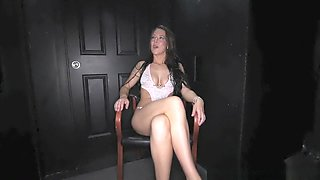 Gloryhole Secrets bikini babe swallows mouthfuls of cum