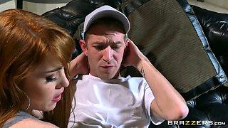 horny redhead nymph gwen stark seducing her stepbrother