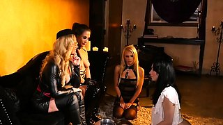Hot sluts get dominated by their horny dominatrix master