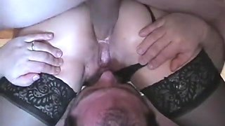 One fucked wife ass & one cleaned cum, I watched