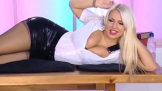 Hot Secretary in Black Pantyhose
