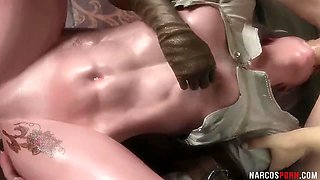 Horny brunette babes with amazing all beautiful tits and sexy booty enjoy riding dick
