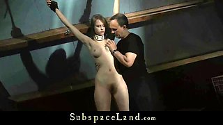 big tits slut slave punishment in the cage of bondage