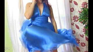 Dovia Milian smells the stinck drooled impregnated on dress