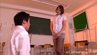 Japanese Teacher Sticks Her Ass In Her Student's Face