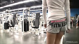 trinity shows off her sexy body while in the gym