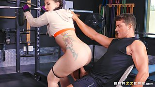 Hot ass Mandy Muse working out then smashed hardcore