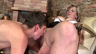 Taboo in country house with mom and not her son