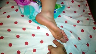 foot tickle while sleeping