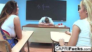 Capri Cavanni in Two Hot Students Fuck Their Teacher In Detention - CapriCavanni