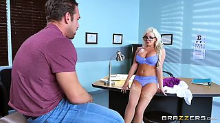 nerdy chick with glasses moans during the hardcore vaginal banging