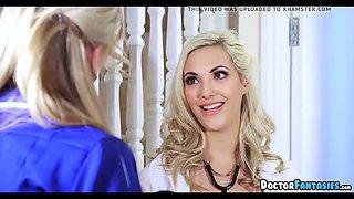 blonde nurse visited him at home