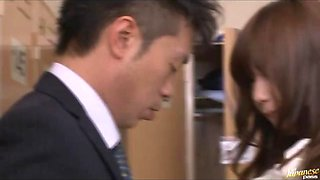 Cute Japanese Office Girl And Her Boss
