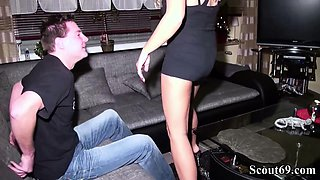 German Husband Caught Wife with Young Boy and Join in 3Some