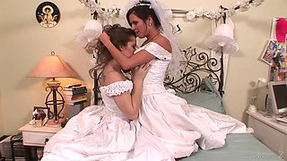 A bride has lesbian sex with her maid of honor on her wedding day
