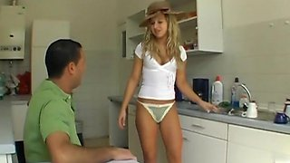 Blonde Kitchen Fuck