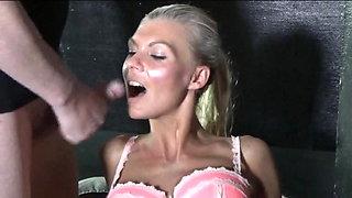 Blonde Danish Cum Eater