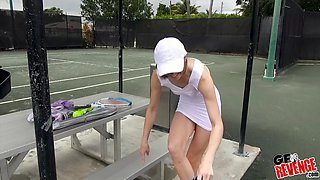 Tennis player Ella Woods gets her pussy plowed after her match