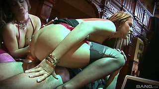 Fantastic lesbian pussy and asshole sucking with Trina Michaels