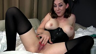 Slutty Step Sister Makes You Jerk for Dirty Panties - Taboo Kristi Fauxcest