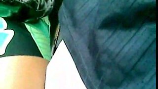 Black chick in bus got her upskirt caught on my hidden cam