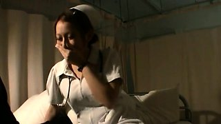 Premium cock sucking nurse wants the whole cock in her muff