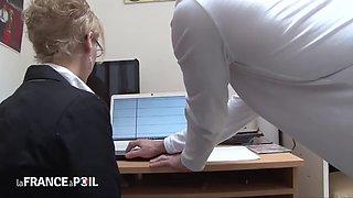 Blonde Secretary Abused At Work