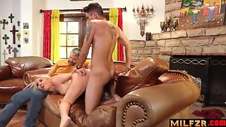 Fucking son infront of husband