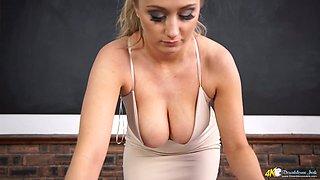 Amazing bosomy sexpot Rachael C loves to expose her really fabulous boobs