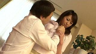 Slutty assistant NAGISA UEMATSU is eaten by her boss