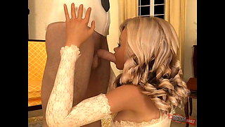 Wedding First Night Surprise for Young Bride. BDSM 3D Orgy!