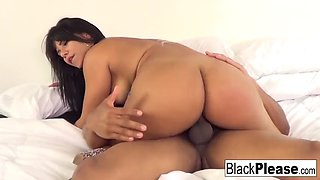 Busty latina rose monroe poses with a dildo