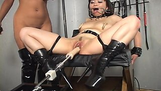 Shaved Pussy Asian Chick Punished By Her Blonde