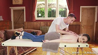 enjoying a naughty massage