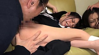 Petite Yazawa Miya Ambushed On The Couch Mum