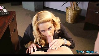 milf gives head at work