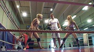 NudefightClub backstage with Aleska Diamond & Celine Doll. Part 2