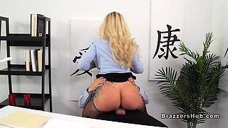 Dominant huge boobs boss bangs employee