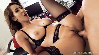 milf isis love in stockings gets pounded on the table